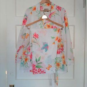 Victoria's Secret Cotton Floral Butterfly Pajamas